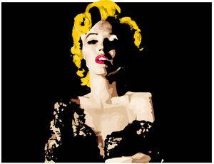 Marilyn Monroe at night