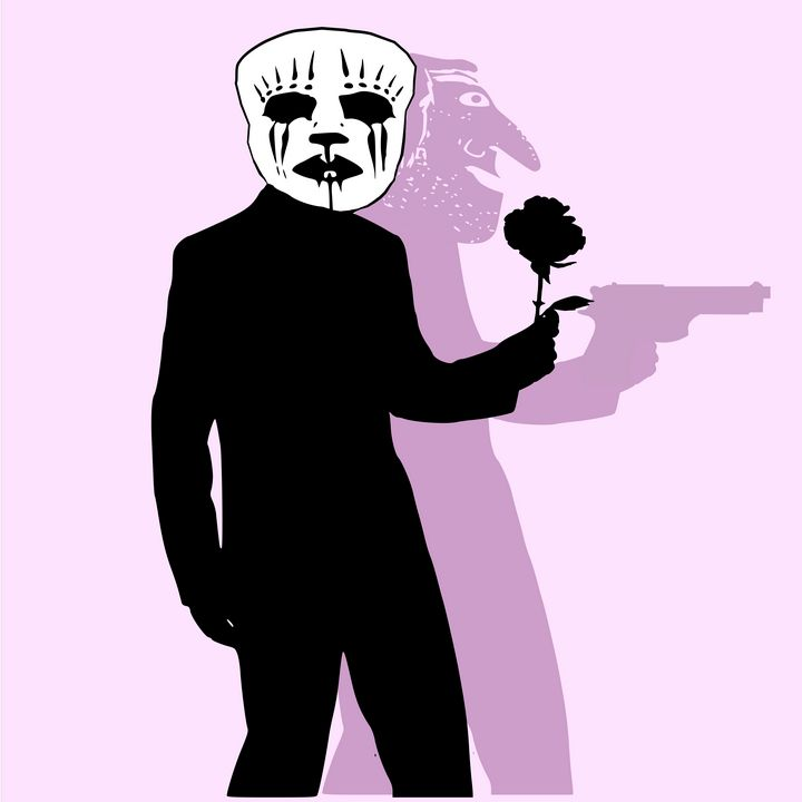 Betrayer with rose and gun - Bonna Shejve