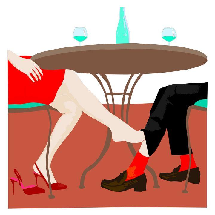 A woman is touching man's leg - Bonna Shejve