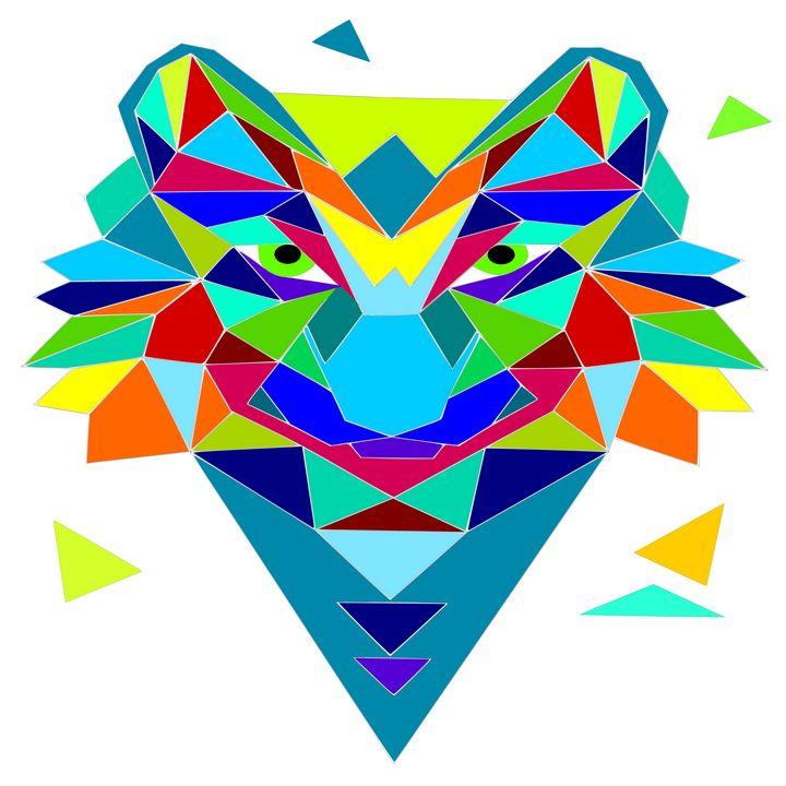 Wolf mosaic - Bonna Shejve