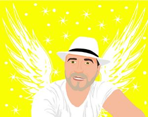 Angel of the light in hat
