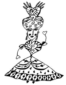 Queen of hearts from Alice in Wonder