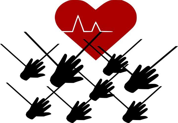 Frightened heart  by many hands - Bonna Shejve