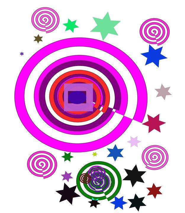 Space colorful world - Bonna Shejve