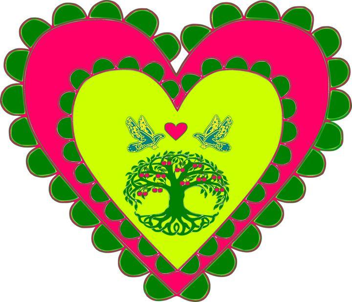 Tree of life in heat of hearts - Bonna Shejve