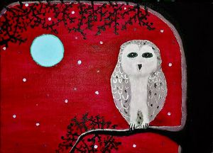 Midnight owl Red