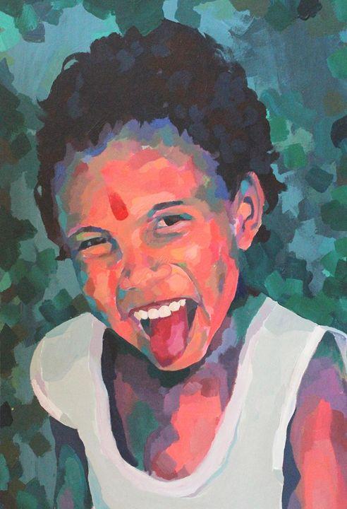 Indian child, portrait - Indian portraits