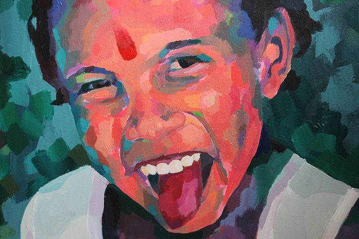 Indian child, detail - Indian portraits