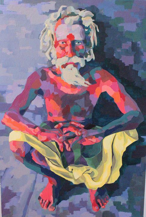 Indian man, figure - Indian portraits