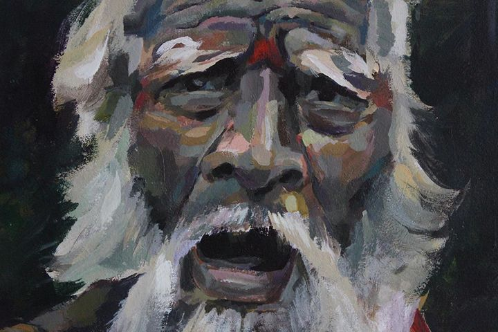 Indian man, detail - Indian portraits