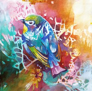 Watercolor Abstract Bird