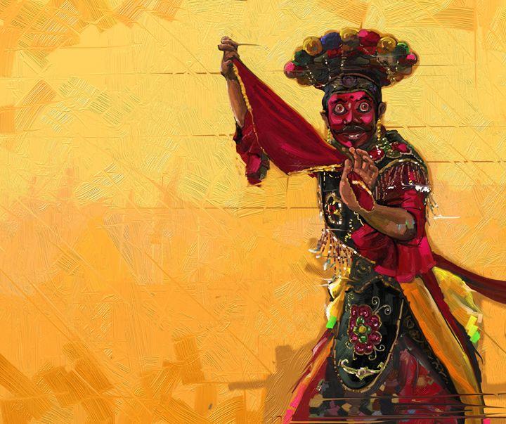 Betawi mask dance - painting