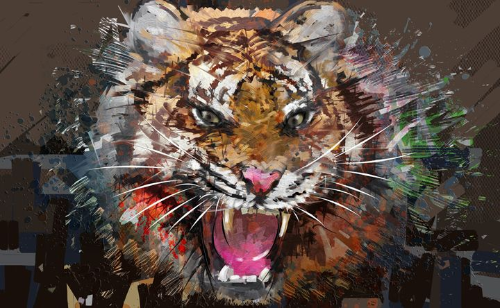 King of the jungle - painting