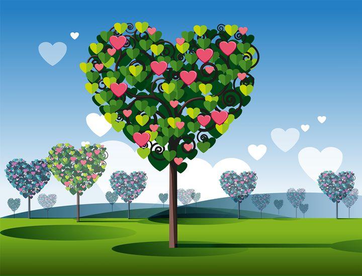 Tree of Love - painting