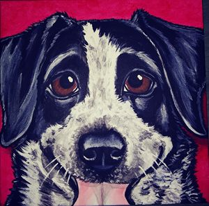 "8""×8"" Custom Pet Portrait painting"