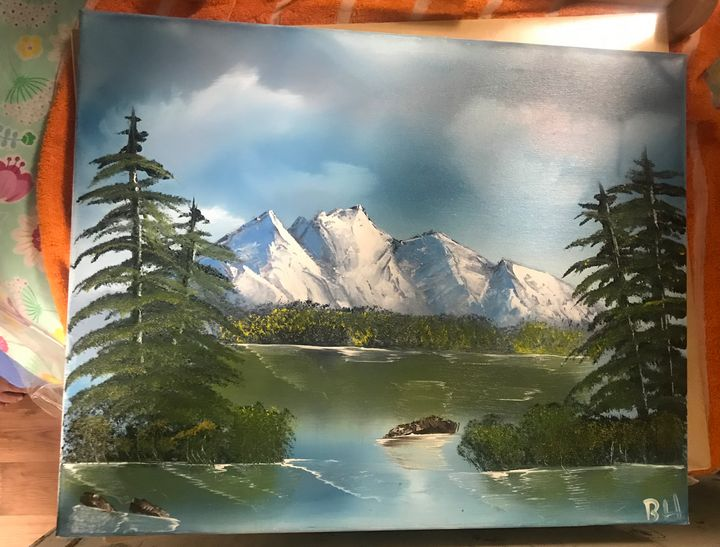 Mountain Lake - Oil landscapes