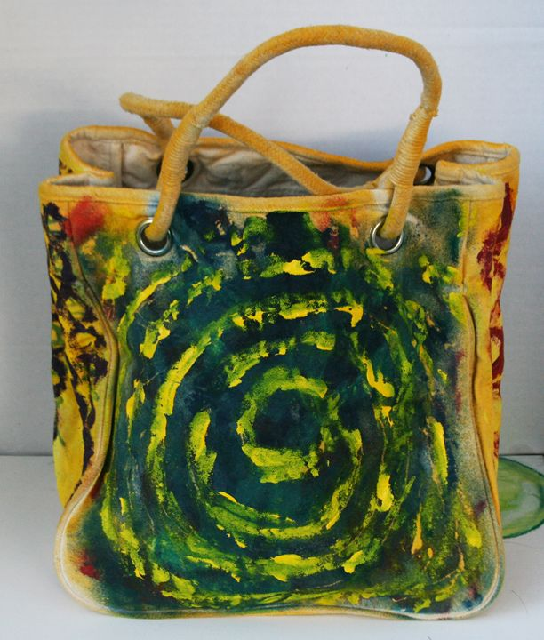 Original Abstract Art Canvas Bag - Quwwa Artworks
