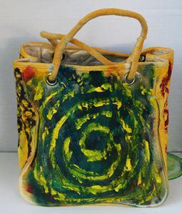 Original Abstract Art Canvas Bag