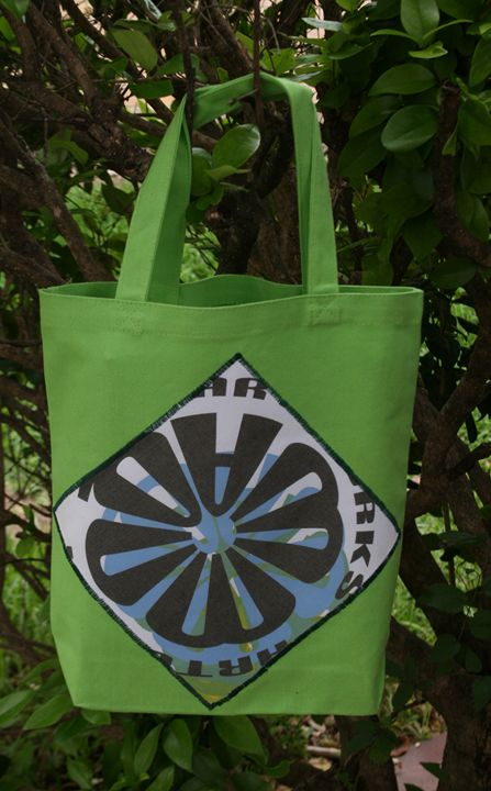 Leaf Green CWATIC Tote Bag - Quwwa Artworks
