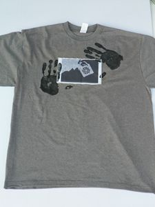 2XXL Grey Hands On TShirt