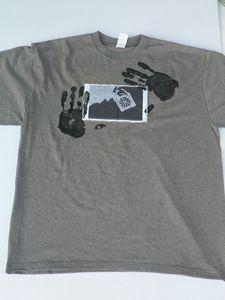 2XXL Grey Hands On TShirt