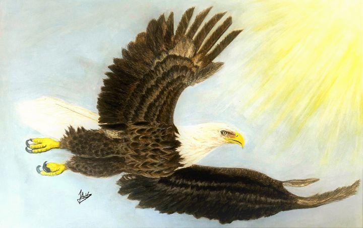 Soaring Eagle - Jacks Ninan Creations Art