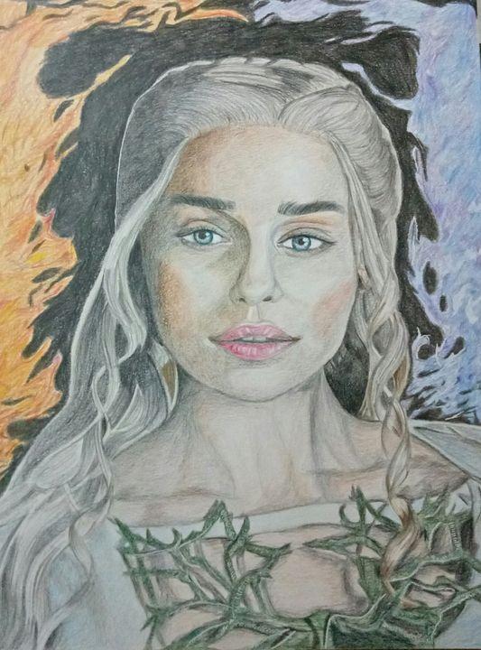 Portrait of Emilia Clarke - Artidenic