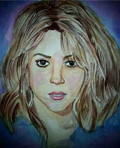 Shakira watercolour