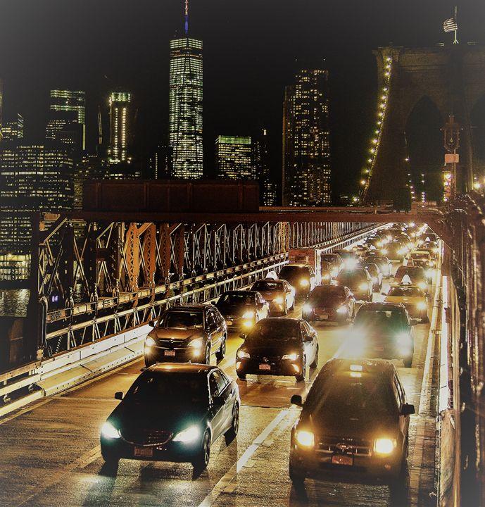 Brooklyn Bridge Rush Hour - Henry Harrison