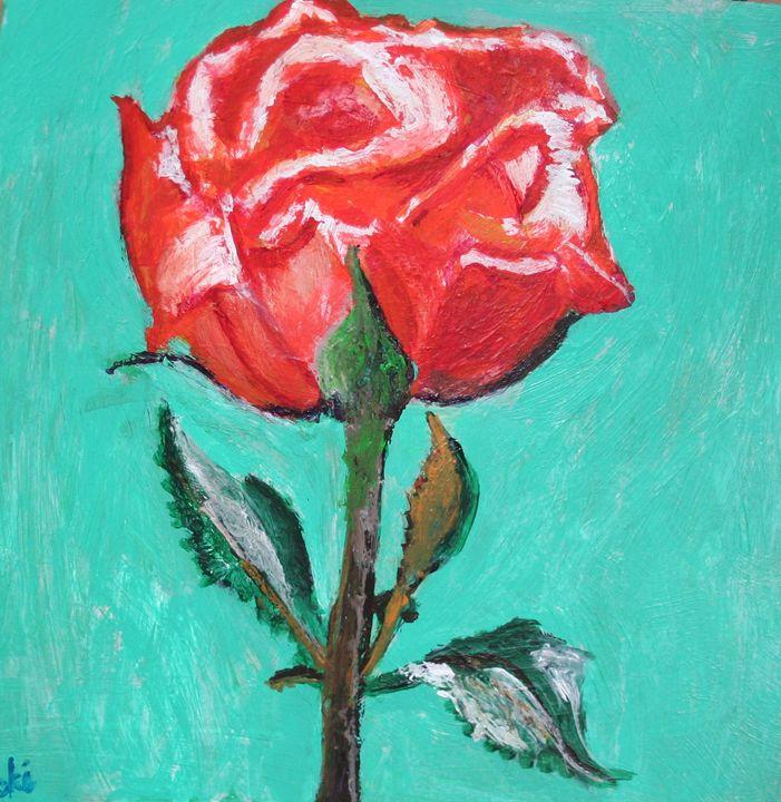 Jann's Birthday Rose - VickiJane Paintings