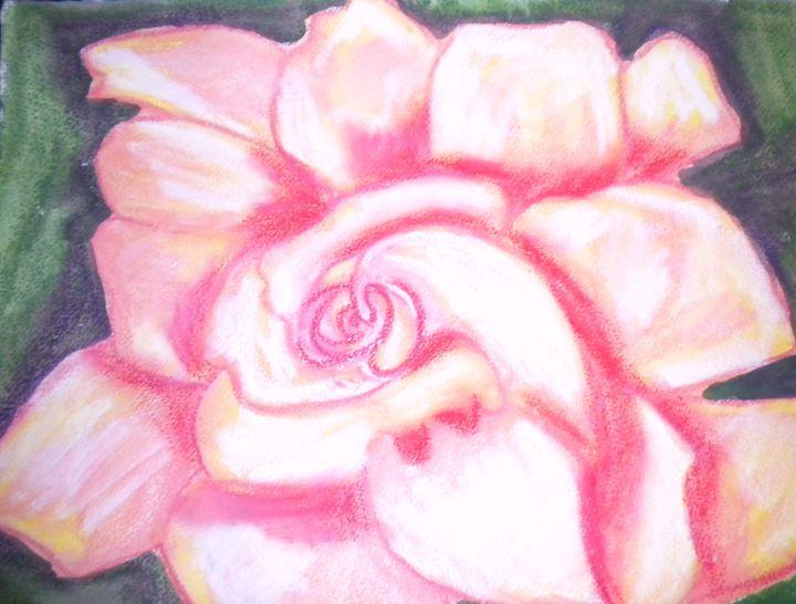 Big Pink Flower - VickiJane Paintings
