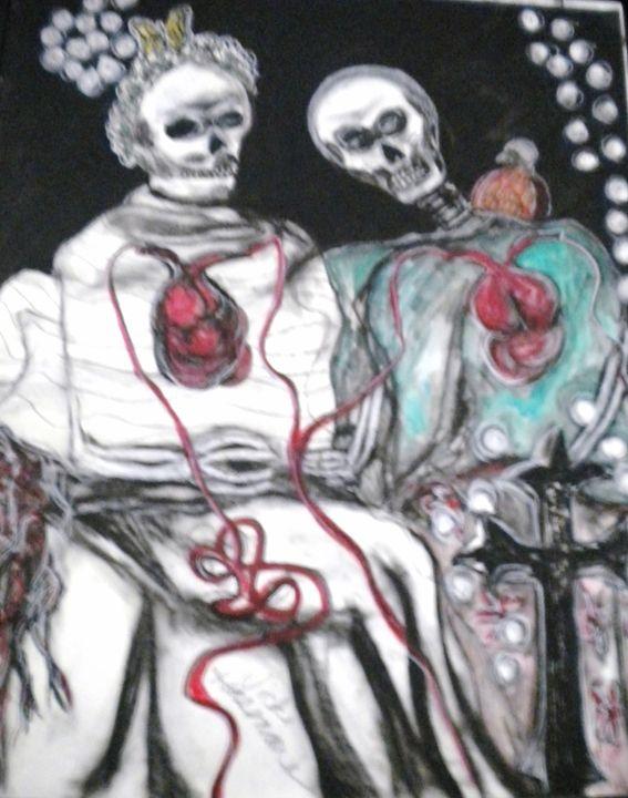 Til Death Do Us Part - VickiJane Paintings