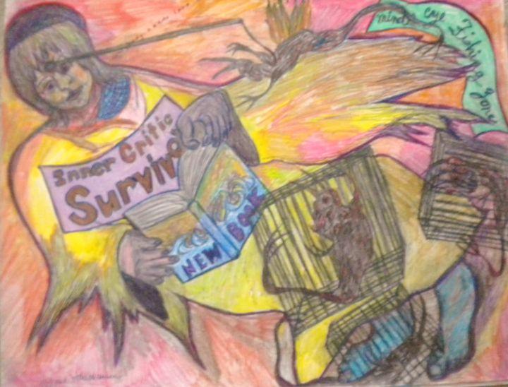 Inner Critic Survivor - VickiJane Paintings