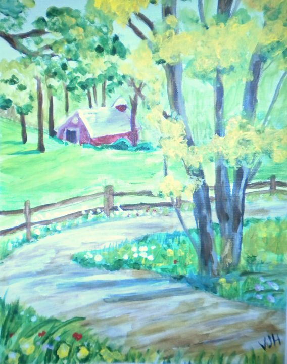 Kansas Farmhouse - VickiJane Paintings