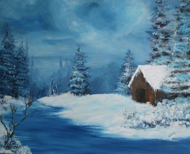 Bob's Cabin - VickiJane Paintings