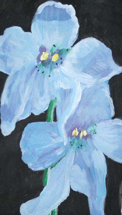 Delphinium - VickiJane Paintings