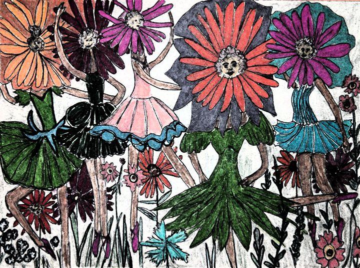 Dancing Daisies - VickiJane Paintings