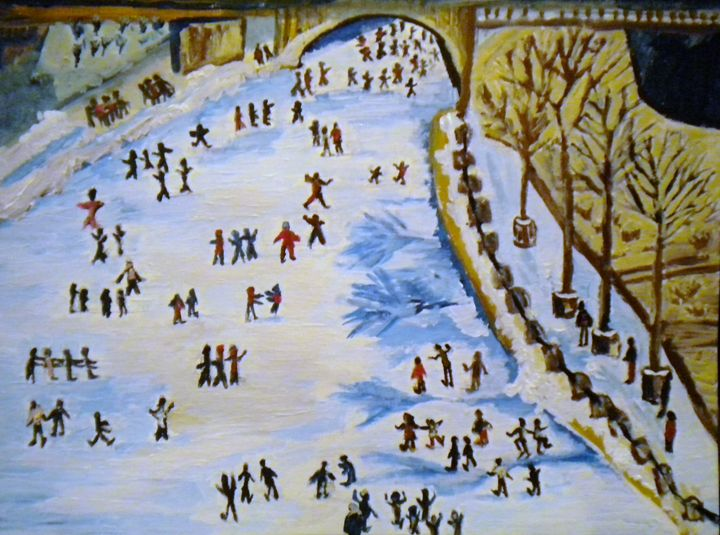 World Largest Ice Skating Rink - VickiJane Paintings