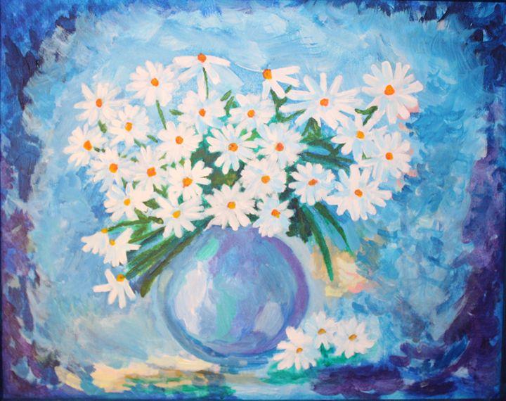 Daisies - VickiJane Paintings