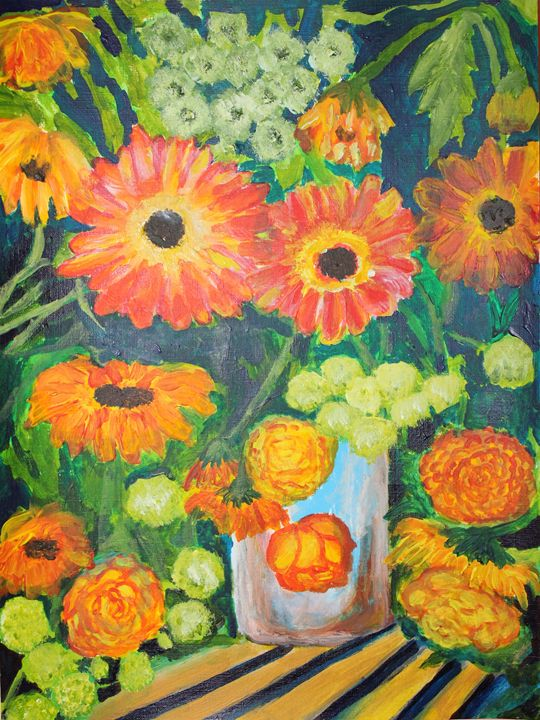 Ranunculus - VickiJane Paintings