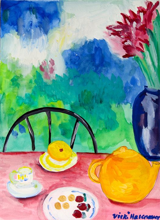 Breakfast - VickiJane Paintings