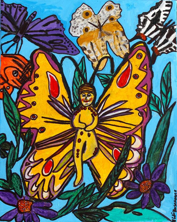 Baby Butterfly - VickiJane Paintings