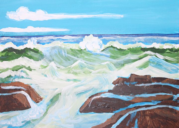surf is high - VickiJane Paintings