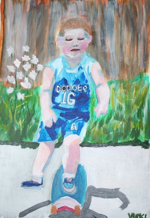 My Grandson - VickiJane Paintings