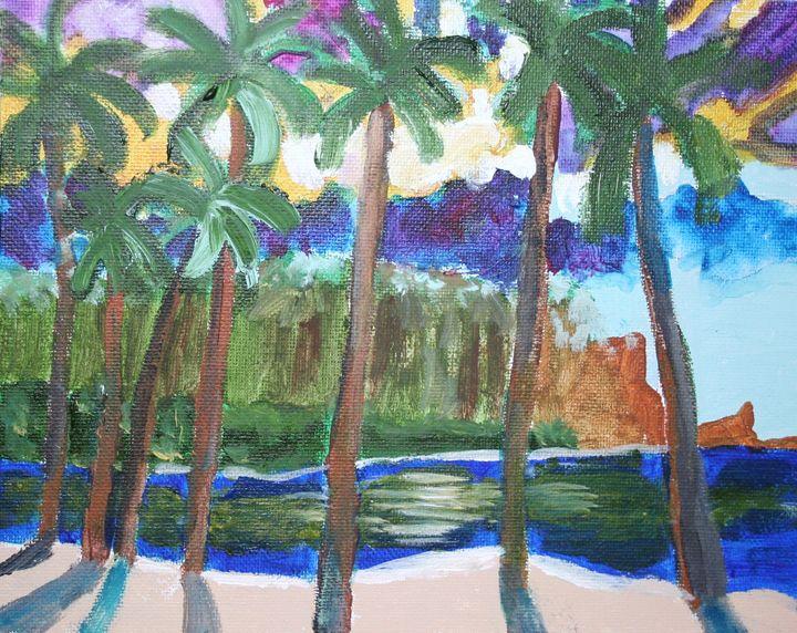 Palm Trees - VickiJane Paintings