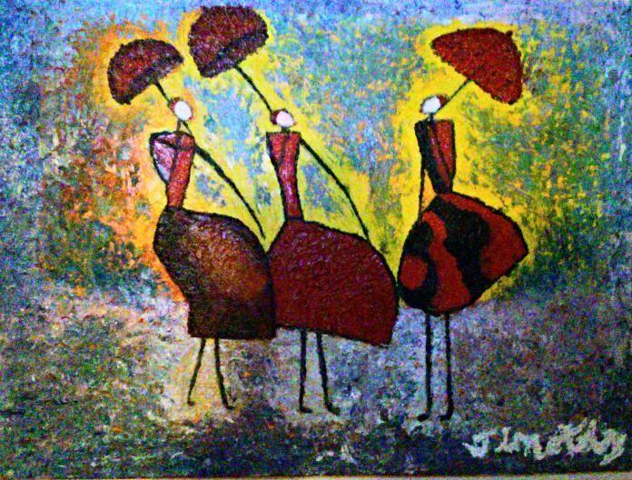 Ladies Rainy Day - Timothy Lazar Art Gallery