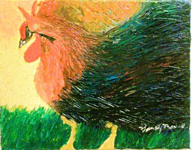 Rooster Sunrise - Timothy Lazar Art Gallery
