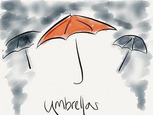Umbrellas - Jerry Fess Art