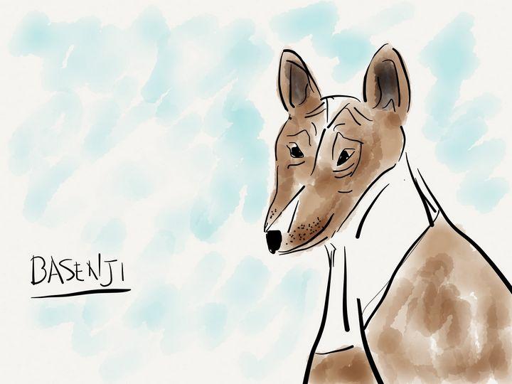 Basenji - Jerry Fess Art
