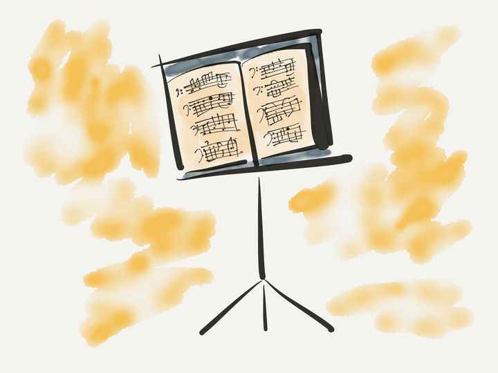 Music stand - Jerry Fess Art